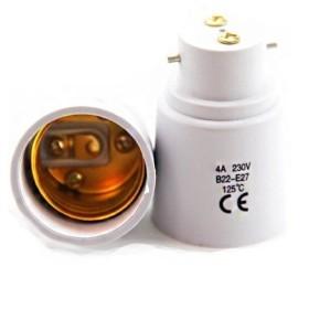 Adaptateur B22 pour ampoule E27