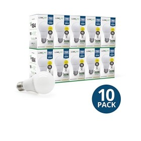 10 ampoules LED 9 watt - blanc chaud