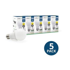 5 ampoules LED 9 watt - blanc chaud