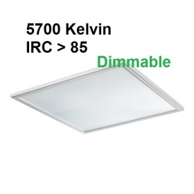 Dalle LED DIMMABLE 5700K - 60x60 - encastrable